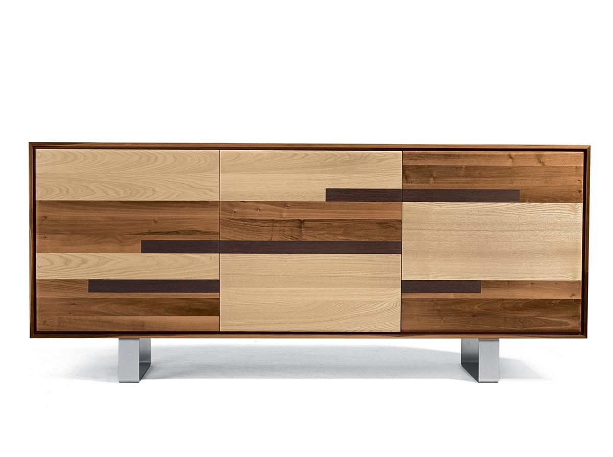 Aron sideboard ash and wenge woods doors yumanmod - Sideboard wenge ...