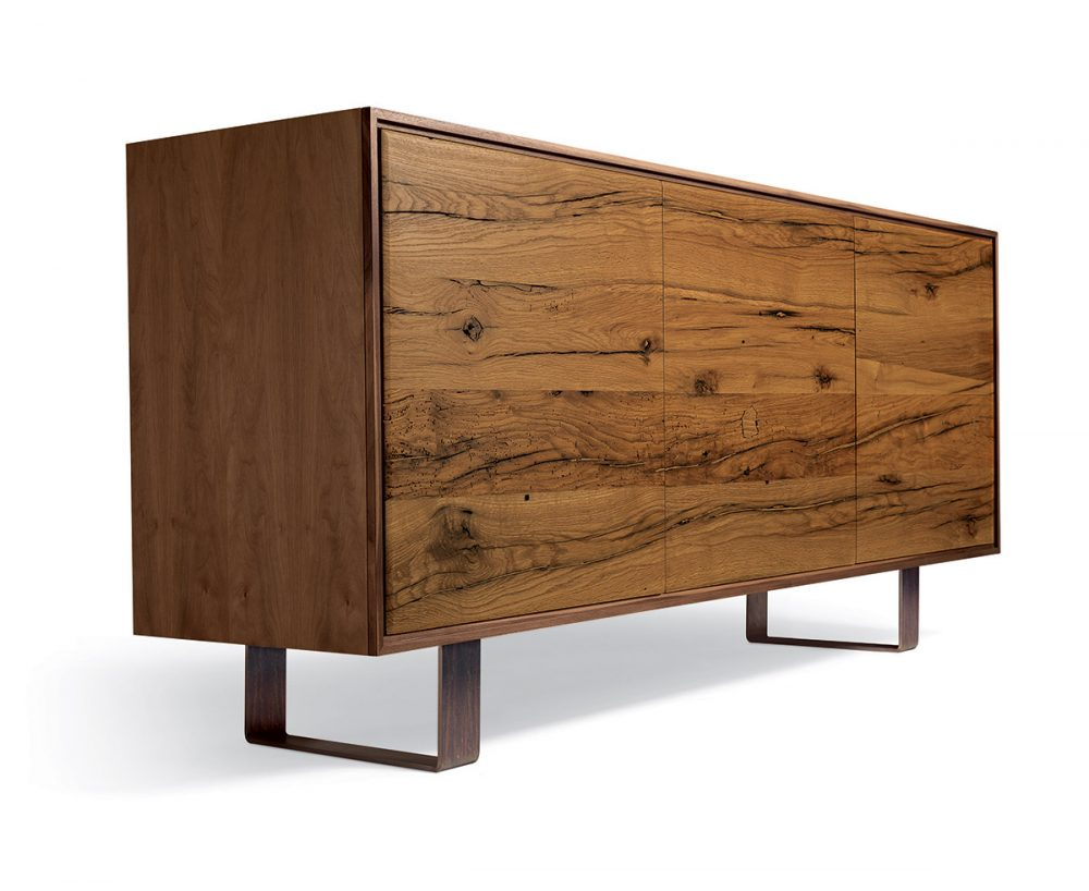 Aron Sideboard - Antique Oak Wood Oil Finished