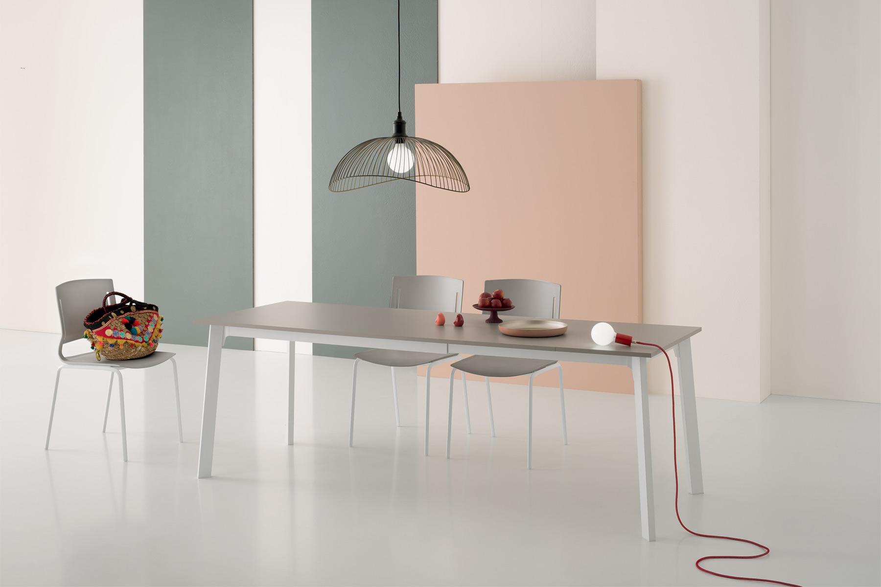Kent Rectangular Dining Table Gray Top